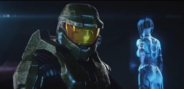 Halo's Master Chief with his loyal AI companion Cortana