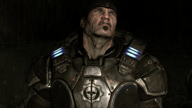 Gears of War protagonist Marcus Fenix looking as grizzled as ever
