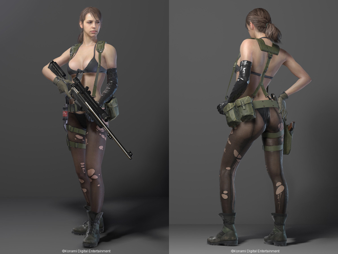 The tasteless character model for 'Quiet'