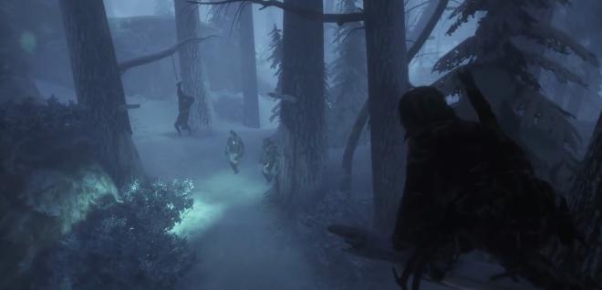 Lara stalking her prey from above