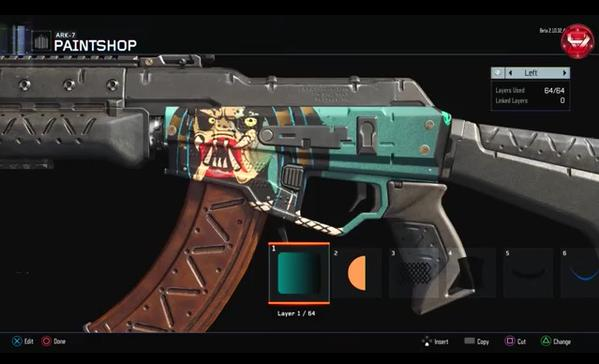 A glimpse at the new powerful camo creator in Black Ops III