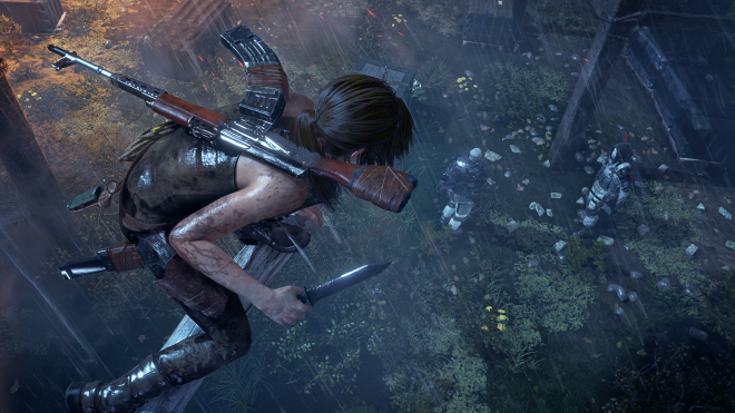 Adding a new dynamic to stealth combat, Rise of the Tomb Raider features tree traversal.