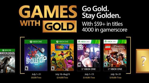 Xbox's Games With Gold announced – July2017