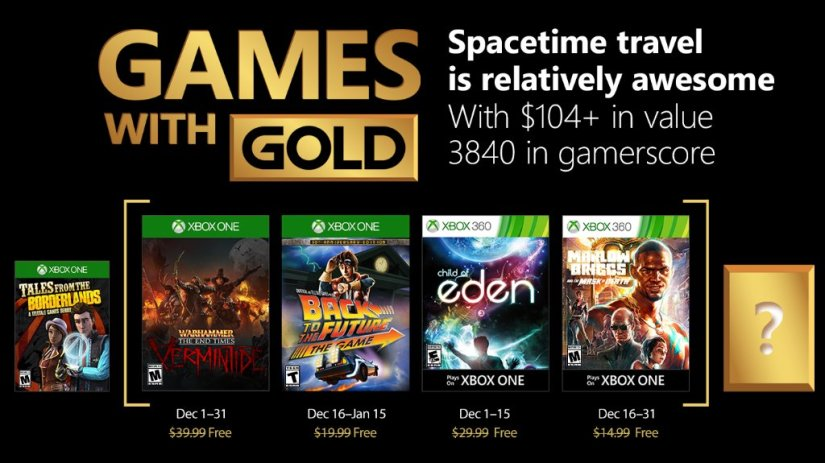 Xbox's Games With Gold – December 2017