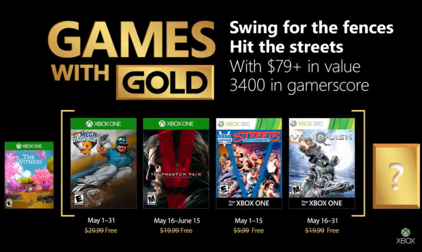 Xbox's Games With Gold – May2018